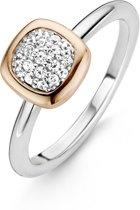 TI SENTO Milano Ring 12064ZR - Maat 54 (17,25 mm) - Gerhodineerd Sterling Zilver