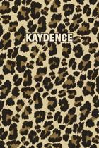 Kaydence: Personalized Notebook - Leopard Print (Animal Pattern). Blank College Ruled (Lined) Journal for Notes, Journaling, Dia