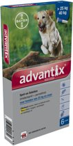 Advantix - Spot On 400/2000 - Anti vlooienmiddel en tekenmiddel hond - 6 pipetten