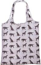 Puckator Opvouwbare tas Hond Boodschappentas in hoesje 38 x 37 cm