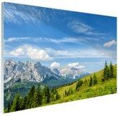 Uitzicht over de Dolomieten Glas 60x40 cm - Foto print op Glas (Plexiglas wanddecoratie)