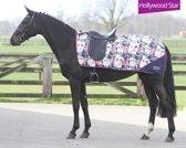 HKM Uitrijdeken Turnout Luxe Fleece - Star - S