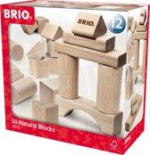 BRIO Blokkenset naturel 50 stuks - 30113