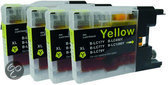 Brother LC 1280 Yellow XL Fourpack (LC-1280XL Y) 4x 19 ml Cartridge