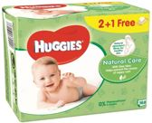Huggies Natural Care Billendoekjes - 168 stuks