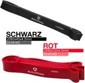 #DoYourFitness 2x Weerstandsband - 2080 mm - rood & zwart