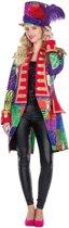 Circus Kostuum   Patchwork Jas Dompteur Afrika Vrouw   Maat 46   Carnaval kostuum   Verkleedkleding