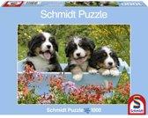 Schmidt Puzzel - Drie Welpen