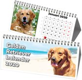 Golden Retriever Driehoek Bureaukalender 2020