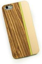 Hoentjen Creatie, Houten hardcase champagne/aluminium - iPhone 6(s)+