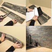 Natuursteen zelfklevende platen forest fire 15X60 cm.  3D wandpanelen, kunst steenstrips, wandbekleding, brickstone,wandtegels, muurtegels  steenstrips voor binnen, 3D wanden, muurdecoratie, gevelbekleding