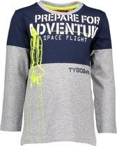 Tygo&Vito Jongens t-shirts & polos Tygo&Vito T&v t-shirt LS cut&sewn PREPARE FOR navy 92