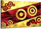 Canvas schilderij Abstract | Rood, Geel, Zwart | 140x90cm 1Luik