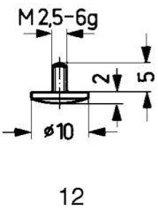 Tastpunt HM 12/10,0mm Käfer