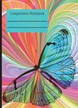 Butterfly Colorful Composition Notebook - 4x4 Graph Paper