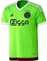 adidas Ajax Uitshirt Junior 2015/2016 - Voetbalshirt - Kinderen - Maat 140 - Lime/Wit