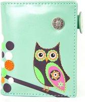 Shagwear Trendy & Funky Compact Vrouwen Portemonnee - Retro Owl / Uil (0823sm)