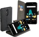 MP Case zwart book case style voor Wiko U Pulse wallet case