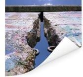 Scheur in de Berlijnse Muur Poster 50x50 cm - Foto print op Poster (wanddecoratie woonkamer / slaapkamer) / Europese steden Poster
