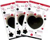 Lovers van Sole Sisters - Schokdempende en ademende kussentjes voor hoge hakken – zwart – 3 paar
