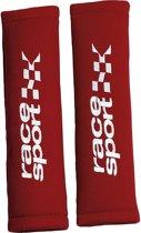 Race Sport Gordelhoezen 28 X 8 Cm Textiel Rood 2 Stuks