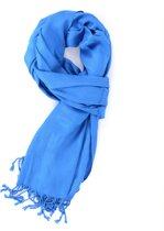 Blauwe dunne viscose sjaal - Stijlvolle shawl voor buiten en binnen