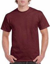 Bordeaux rood katoenen shirt voor volwassenen L (40/52)