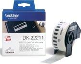 Label etiket brother dk-22211 29 mm x 15.24 m wit