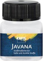 Javana witte textielverf 20ml – Voor licht en donker gekleurd textiel