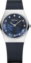 BERING 11927-307 - Horloge - Staal - Blauw - 27 mm