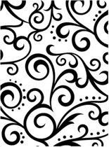 Darice Embossing Folder - Embossing Sjabloon - Achtergrond Krullen - 10,8 x 14,6 cm