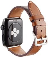 PU Lederen Band Voor Apple Watch Series 1/2/3/4 42 MM /44 MM - iWatch Armband Polsband Strap - Bruin