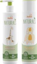 Zwitsal  naturals Bad- & Wascrème + Shampoo & Wasgel - Combinatie pack