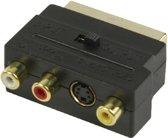 Schakelbare Scart Naar Tulp / S-Video Kabel Adapter - Scart Male Naar 3X RCA & S-Video - AV / Composiet Kabel Adapter / Stekker / Converter / Omvormer / Verloopstekker / Connector / Verloopkabel