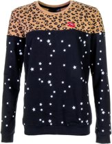 Colourful Rebel Midnight Leopard  Sporttrui casual - Maat M  - Vrouwen - bruin/navy
