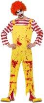 Horror clown kostuum rood/geel voor heren 48-50 (M)