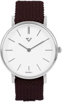 Prisma Unisex P.1625.WG27 horloge wijnRood Nylon 5 ATM