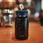 Sterrenhemel patroon creatieve mat glazen fles  capaciteit: 450ml
