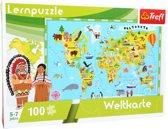 Trefl Kaart Van De Wereld Leerpuzzel 100-delig