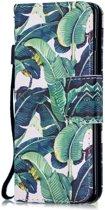 Samsung Galaxy S10 Portemonnee Hoesje met Print Banana Tree