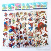 Twee Stickervellen SPIDERMAN Ca. 25 Stickers - Bubble 3D Stickers