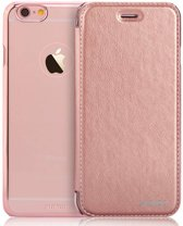 Xundd - iPhone 6 / iPhone 6S (4,7 inch) Folio Flip PU Leather hoesje met hard transparant back cover Rose Goud