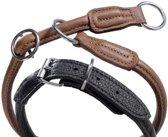 Nobby - honden halsband - zwart - 50 tot 60 cm - 1 cm breed