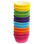 Wilton Cupcake vormpjes Regenboog kleuren pk/300