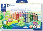 buddy 3-in-1 kleurpotlood - set 12 st