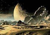 Fotobehang Space Planet   XL - 208cm x 146cm   130g/m2 Vlies