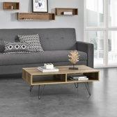 [en.casa]® Moderne salontafel - pinpoten - Preston - houtlook
