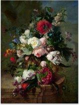 Bloemen Stilleven - Harmanus Uppink - Rijksmuseum - Schilderij op Canvas