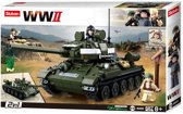 Building Blocks WWII Serie T-3485 Allied Tank 2 in 1
