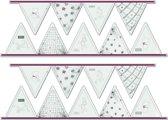 Winnie de Poeh - Muurstickers - Rood - 2x 25x68,5 cm